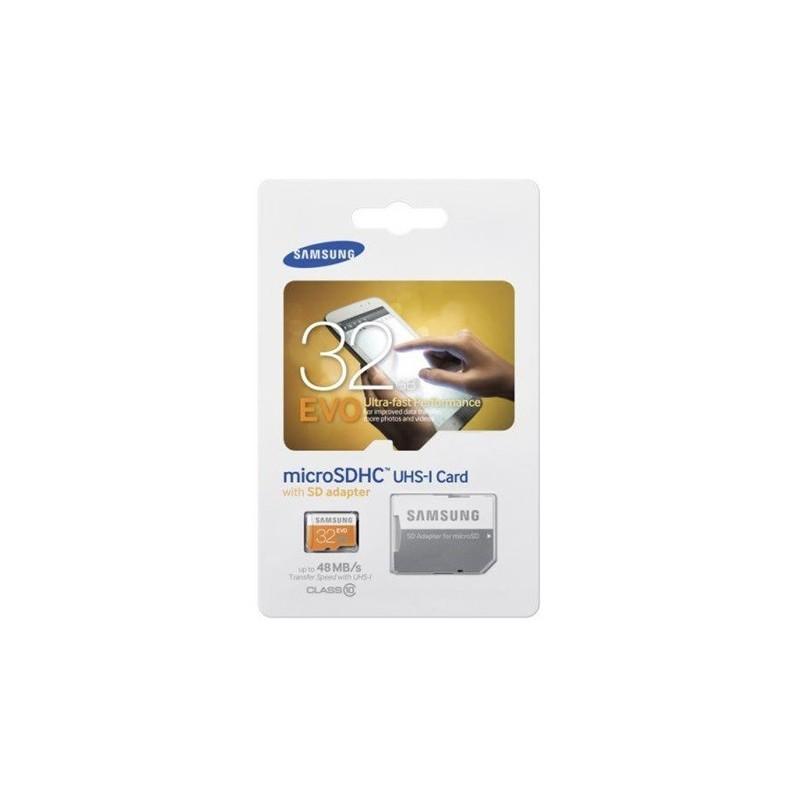 Samsung 32GB micro EVO +adapter Class 10 microSDHC memóriakártya