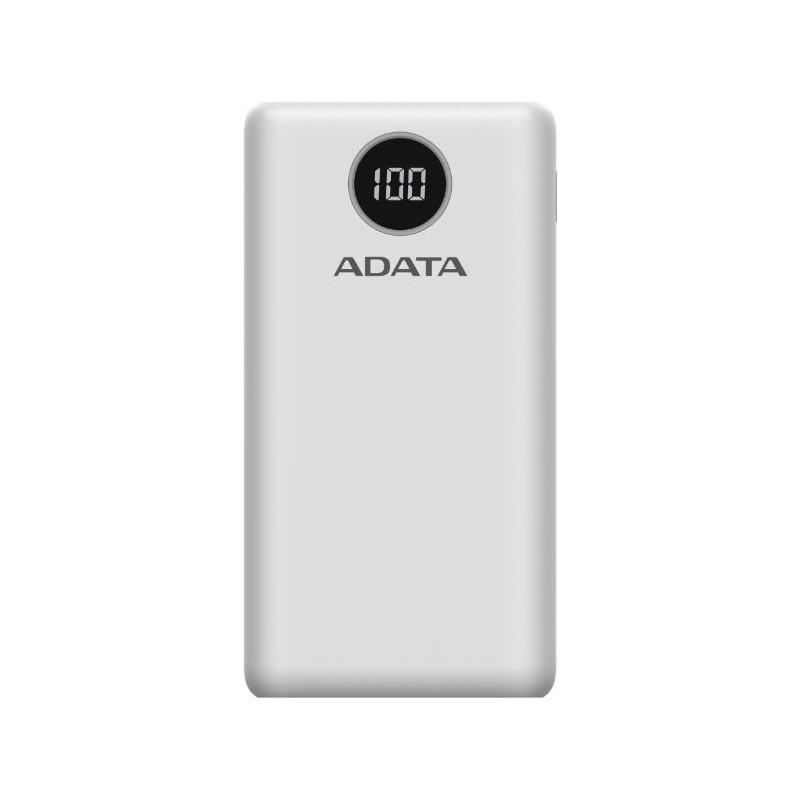 ADATA Power Bank 20000mAh AP20000QCD, Fehér