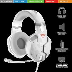 TRUST GXT 322W Carus Gaming Headset Gamer Fejhallgató mikrofonnal 20864, - snow camo