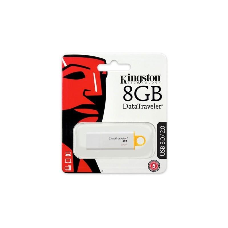 Kingston 8GB Data Traveler Generation 4 USB3.0 pendrive sárga