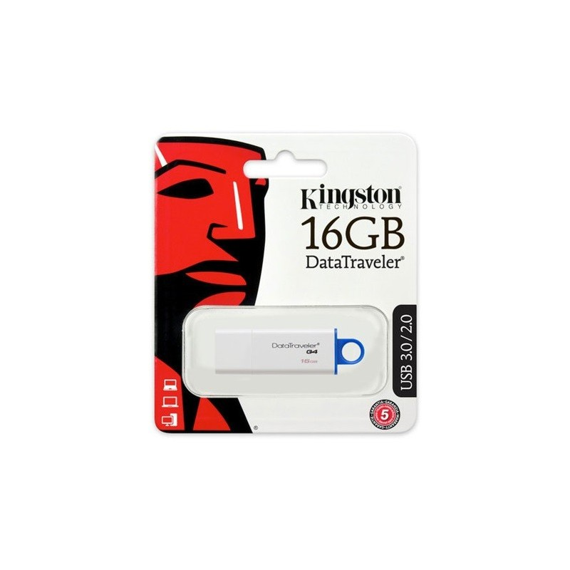 Kingston 16GB Data Traveler Generation 4 USB3.0 pendrive kék
