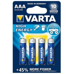 Varta High Energy AAA LR03 4 db Mikro elem