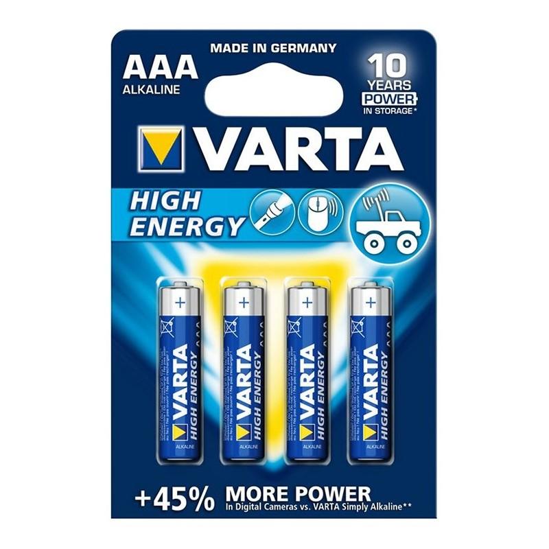 Varta High Energy AAA LR03 Mikro elem