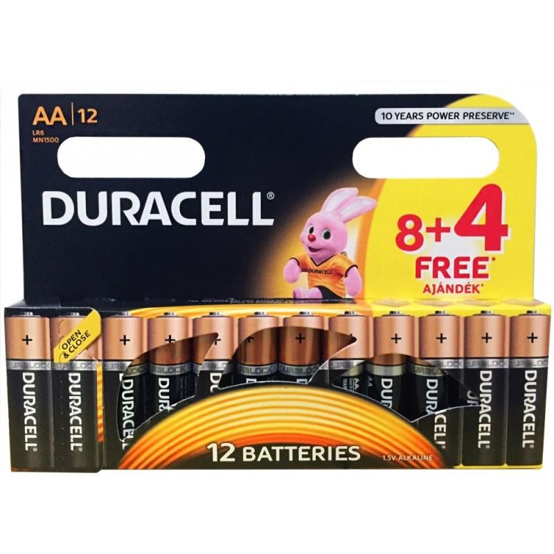 Duracell Basic AA LR6 Ceruzaelem 8 + 4 db ingyen