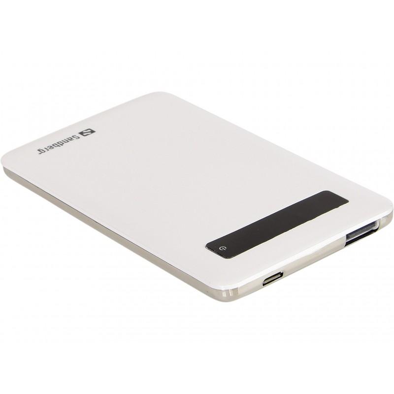 Sandberg Pocket 5000mAh külső akkumulátor  (2A USB kimenet, fehér)