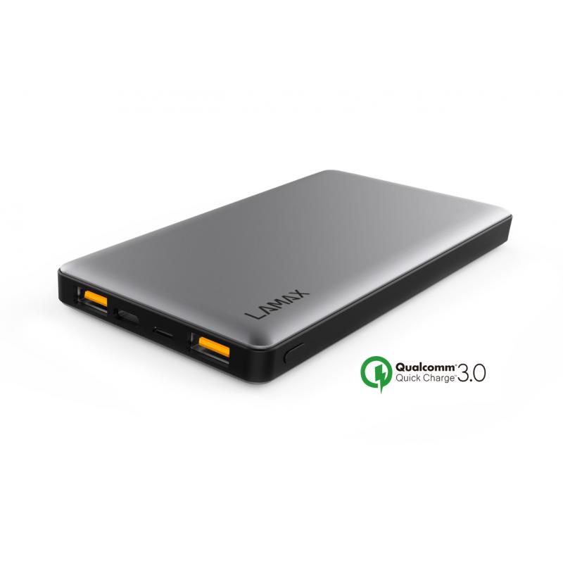 Lamax 10 000 mAh Power Bank Quick Charge külső akkumulátor