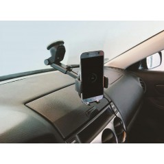 Quazar Q-Car Charger univerzális telefontartó és vezeték nélküli gyorstöltő