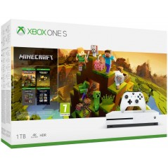 Microsoft Xbox One S 1TB  Minecraft Creators szoftverrel