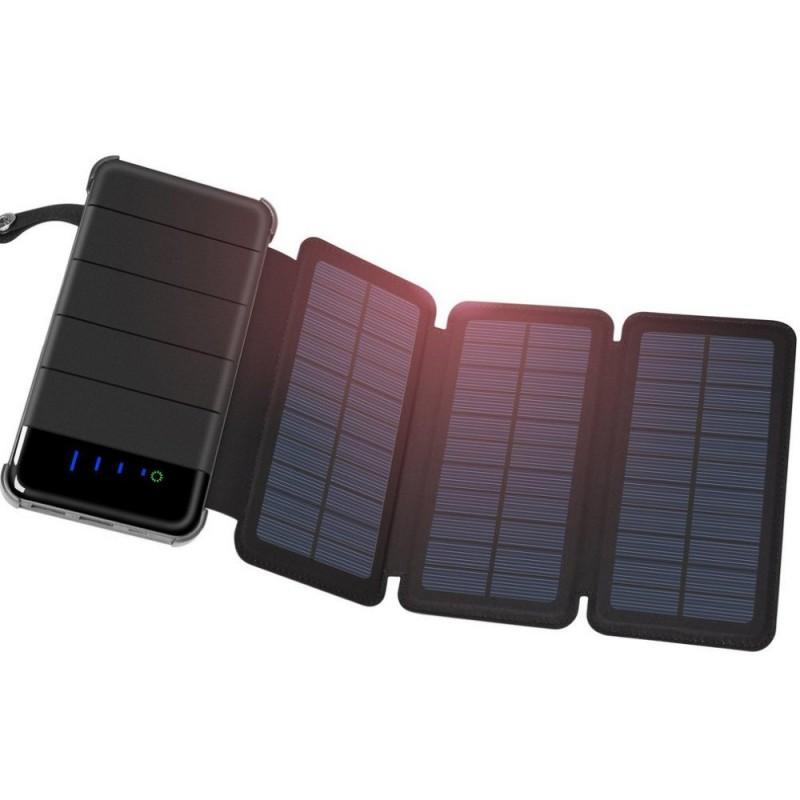 Quazar Be travel napelemes 8000 mAh power bank LED lámpával