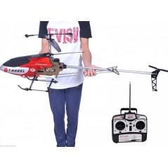GT Model QS8006 nagyméretű, 3,5 csatornás távirányítós helikopter, piros