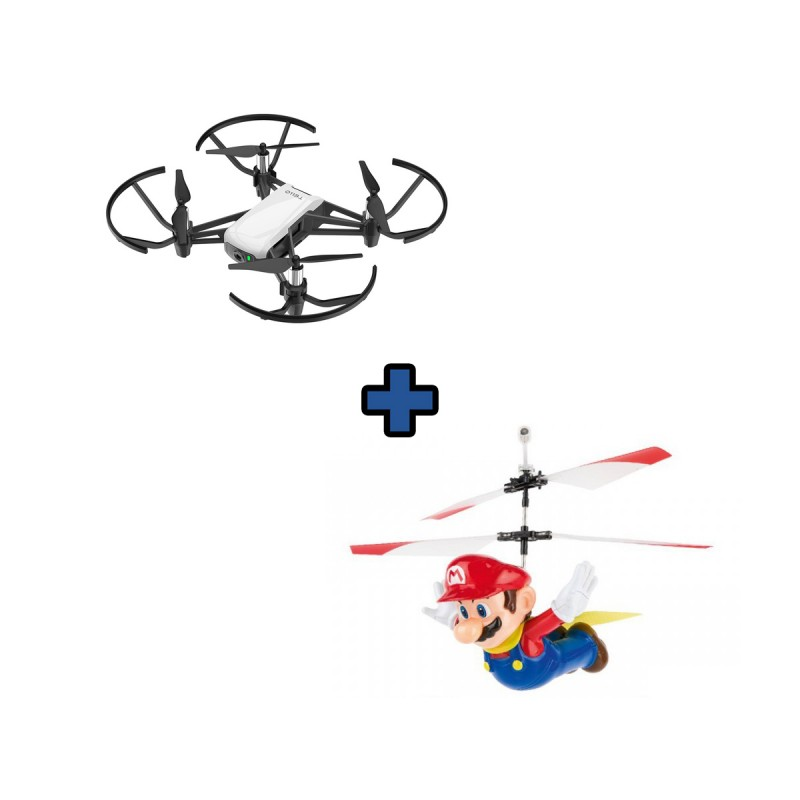 DJI Tello és Carrera Flying Cape Mario kamerás és játék drón szett