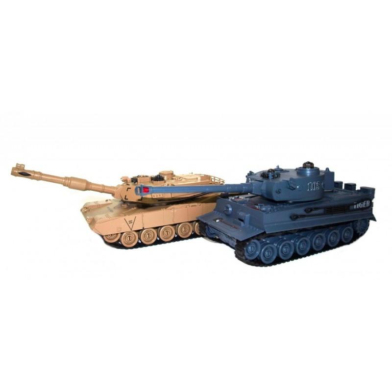 Zegan M1A2 Abrams és Német Tigris v2 1:28 RC távirányítós tank szett