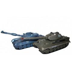 Zegan Orosz T-90 és Német Királytigris 1:28 RC RTR távirányítós tank szett
