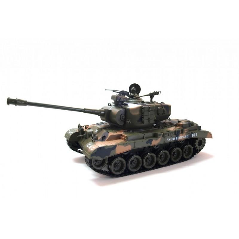 Zegan M26 Snow Leopard 1:18 40MHz RTR ASG műanyag lövedékes távirányítós tank