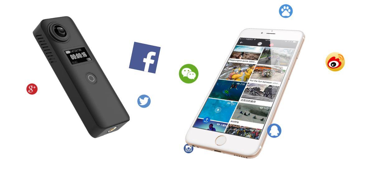 SJCAM SJ360+ közösségi média