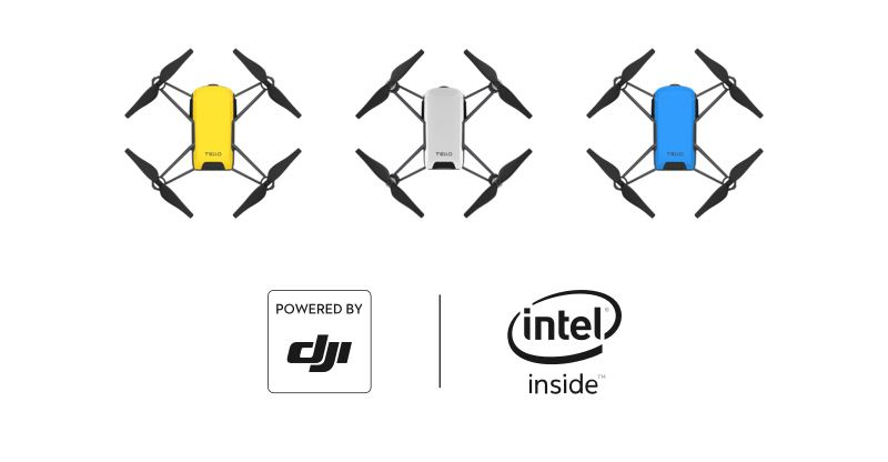 DJI Tello színek és Intel processzor