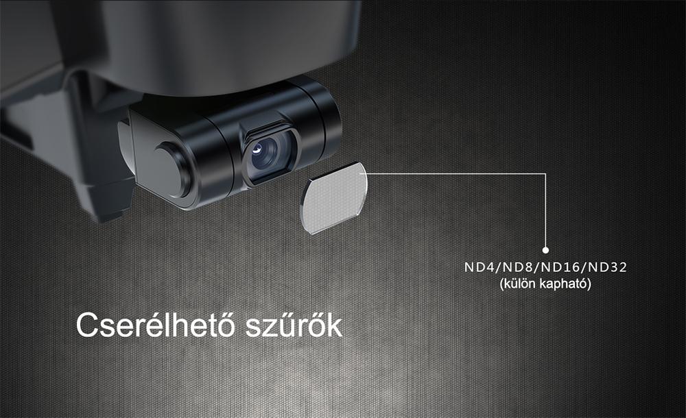 Hubsan Zino Pro cserélhető szűrőkkel