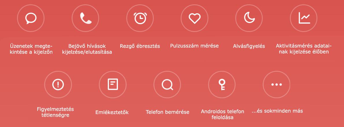 Xiaomi Mi Band 3 okos funkciók
