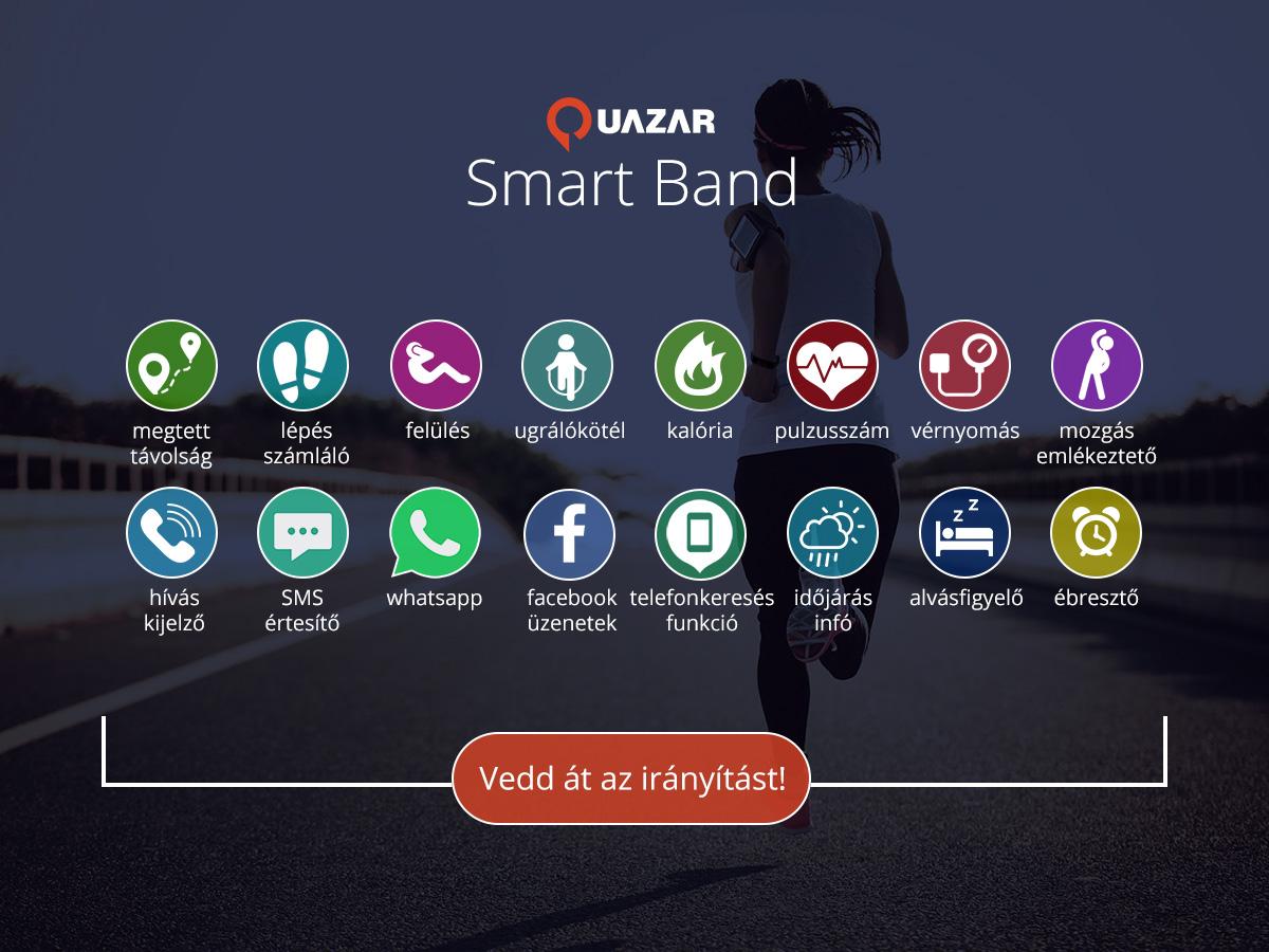 Quazar Smart Band 2.0 okosóra