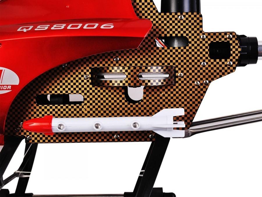 GT Model QS8006 nagyméretű távirányítós helikopter piros színben