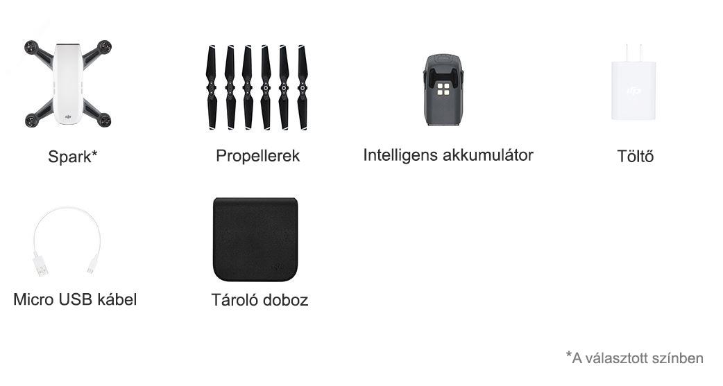 Csomag tartalma - DJI Spark