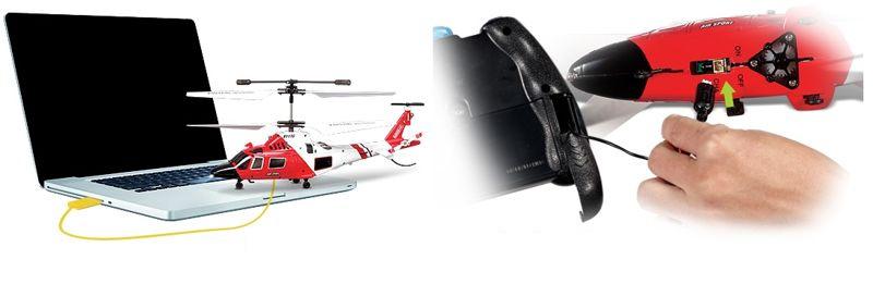 Syma S111G távirányítós helikopter töltése
