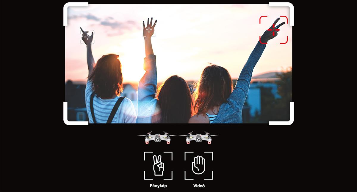 Syma W1 Pro irányítása kézmozdulatokkal