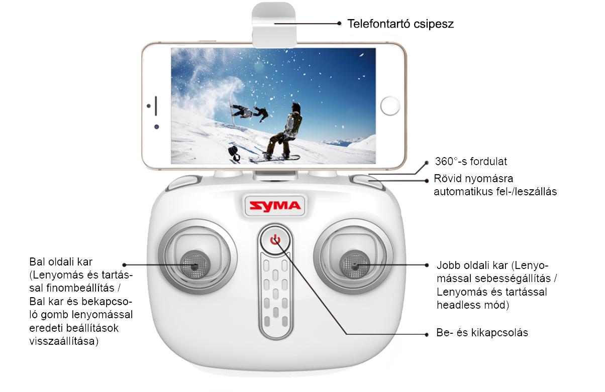 Syma X15W kamerás drón távirányító