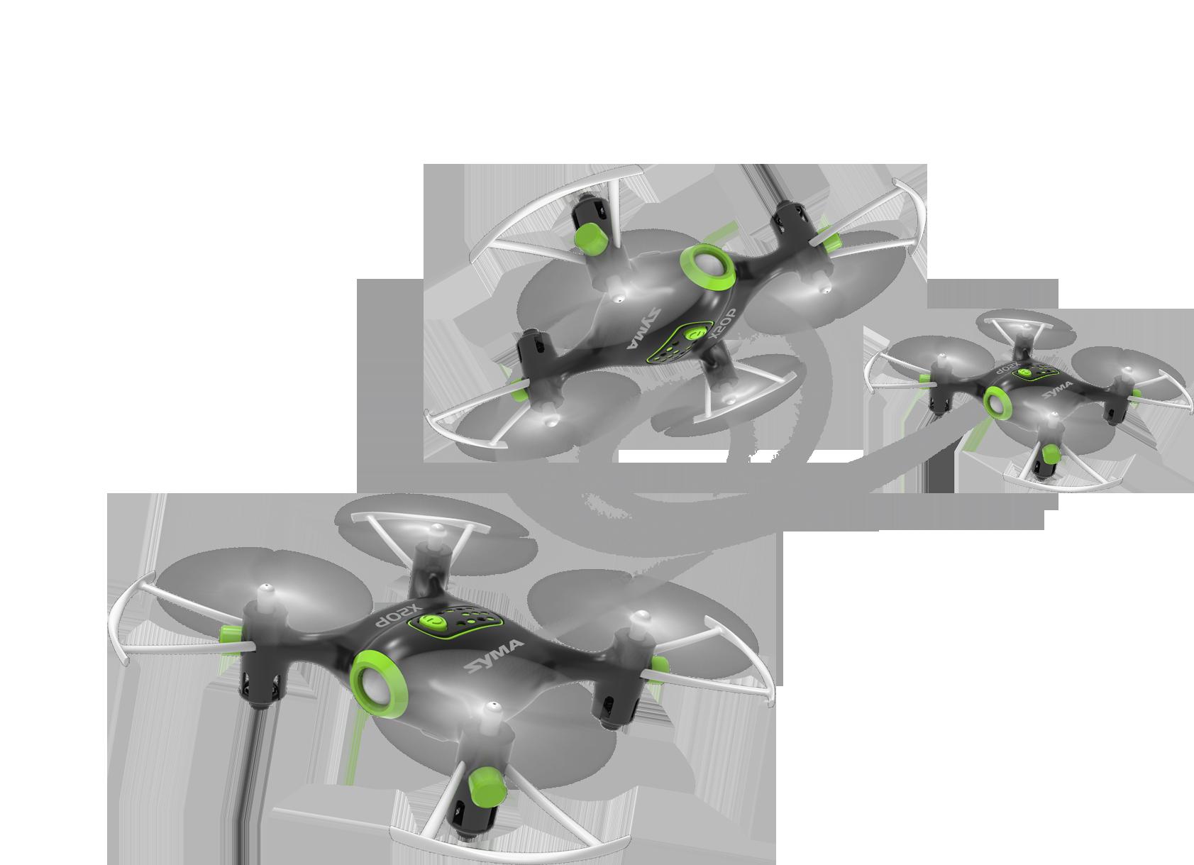Syma X20P 360°-s fordulatot tesz a levegőben