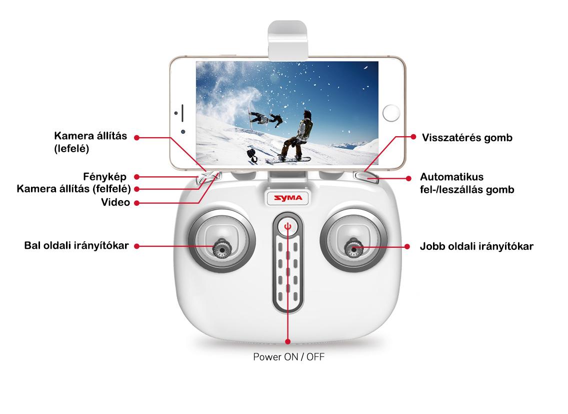 Syma X8 Pro távirányító