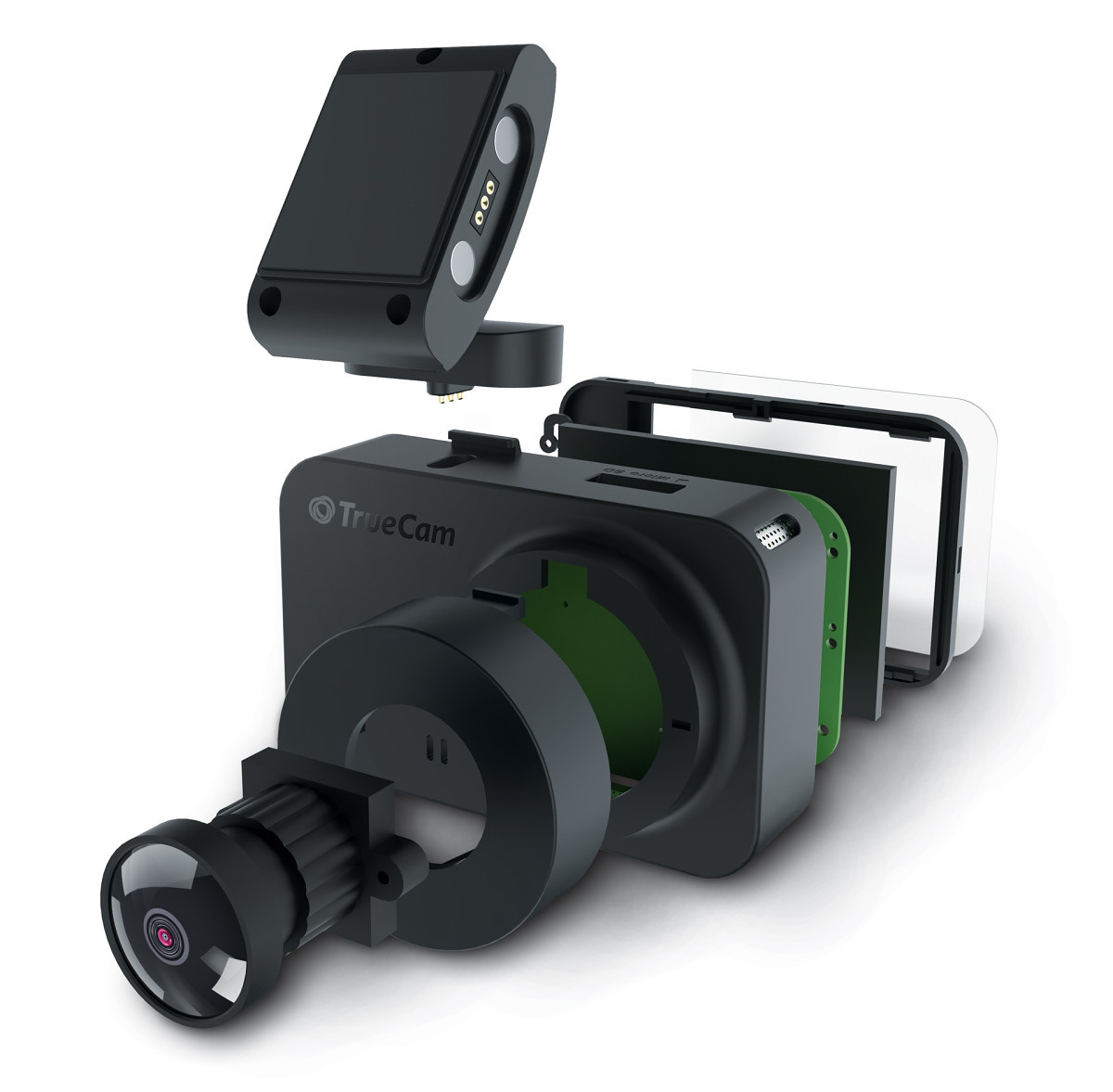 TrueCam M5 autós kamera felépítése