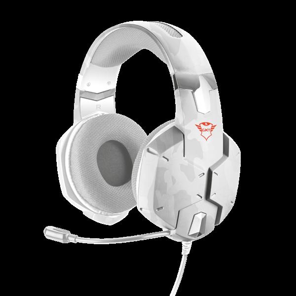 TRUST Gamer Fejhallgató mikrofonnal 20864, GXT 322W Carus Gaming Headset - snow camo