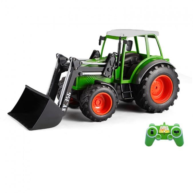 Távirányítós traktor homlokrakodóval