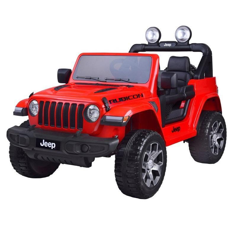 Piros Joko JEEP Wrangler elektromos kisautó fekete színben