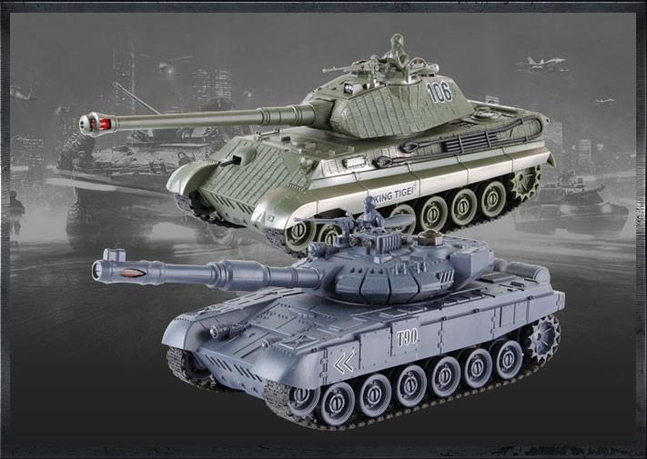 RC tank szett Orosz T-90 és Német Királytigris harckocsikkal